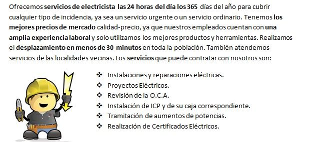 Electricistas Chiloeches 24 horas